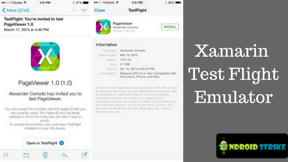 Xamarin Test Flight Emulator