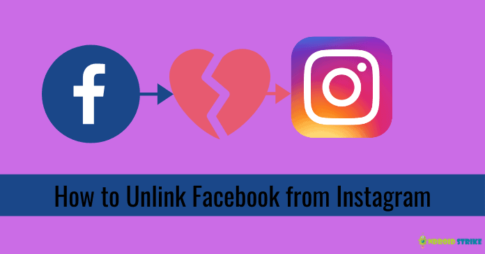 Unlink Facebook from Instagram